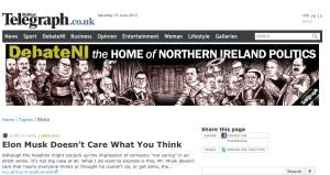 My article in Belfast Ireland